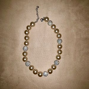 Joan Boyce Champagne Pearls, Pave Crystals